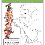Snow White and The Seven Dwarfs Connect The Dots Coloring Page