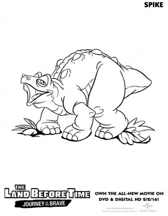 The Land Before Time Spike Coloring Page