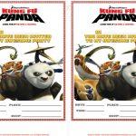 Free Printable Kung Fu Panda Party Invitations