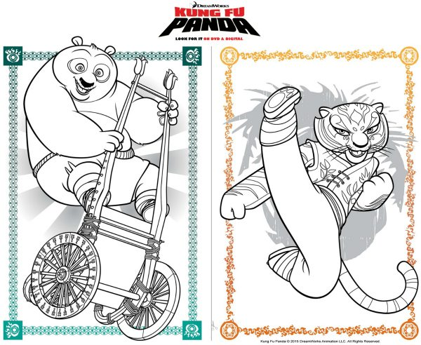 Free Printable Kung Fu Panda Coloring Page