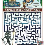 Disney Captain Jake and The Neverland Pirates Printable Maze