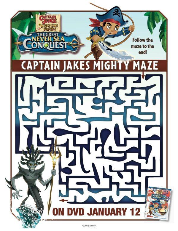 Disney Captain Jake and The Neverland Pirates Printable Maze