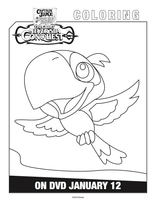 Disney Captain Jake And The Neverland Pirates Skully Coloring Page Jake And The Neverland Coloring Pages