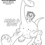 Disney The Good Dinosaur Arlo & Spot Coloring Page