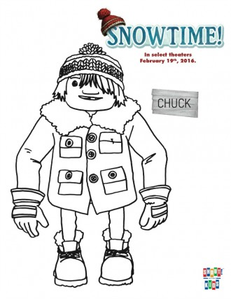 Free Snowtime Printable Chuck Coloring Page