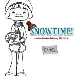Free Snowtime Printable Daniel Coloring Page
