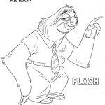 Free Disney Zootopia Flash Coloring Page