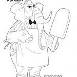 Free Disney Zootopia Jerry Jumbeaux Jr. Coloring Page