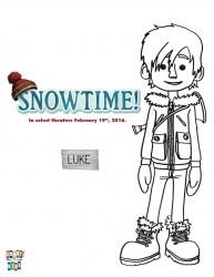 Free Snowtime Printable Luke Coloring Page