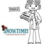 Free Snowtime Printable Manolo Coloring Page