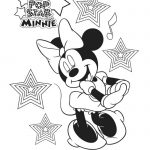 Disney Free Pop Star Minnie Printable Coloring Page