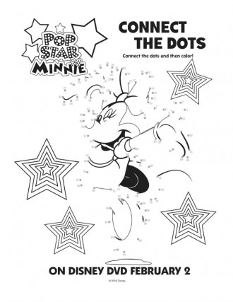 Disney Minnie Mouse Connect the Dots Coloring Page