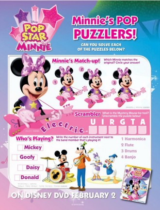 Disney Minnie Mouse Printable Puzzlers