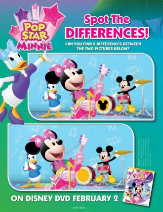 Disney Mickey Mouse Clubhouse Pop Star Minnie Spot The Differences