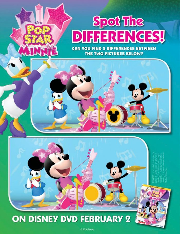 Disney Mickey Mouse Clubhouse Pop Star Minnie Spot The ...