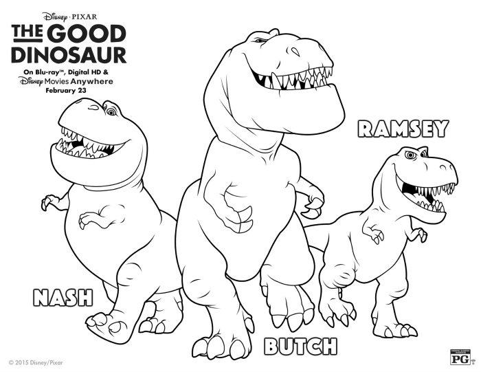 Disney The Good Dinosaur T Rex Coloring Page