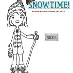 Free Snowtime Printable Nicky Coloring Page