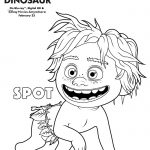 Disney Pixar The Good Dinosaur Spot Coloring Page