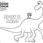 Disney The Good Dinosaur Spot & Arlo Coloring Page