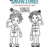 Free Snowtime Printable The Twins Coloring Page