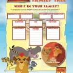 Disney The Lion Guard Free Printable Family Tree Activity Page