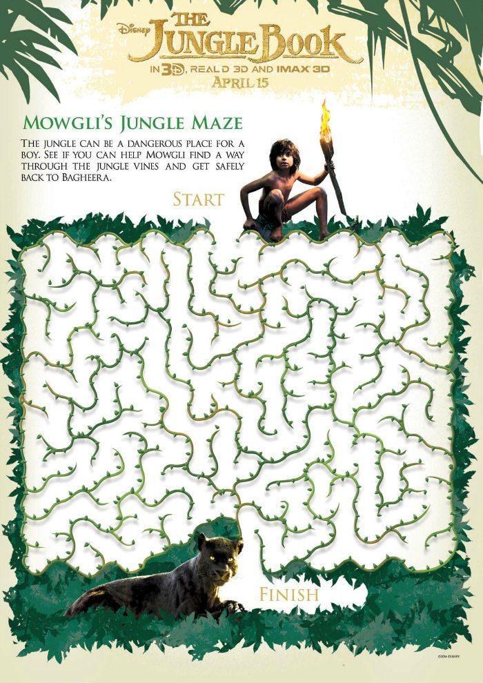 Disney Jungle Book Free Mowgli Maze Activity Page