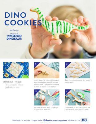 The Good Dinosaur Dino Cookies