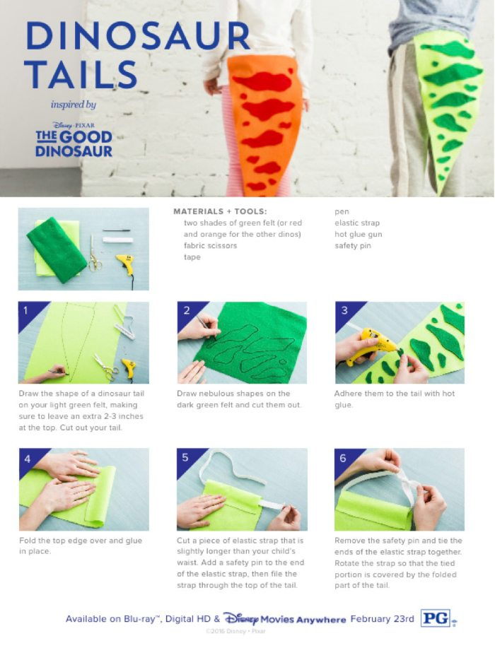 Disney the good dinosaur dino tail craft mama likes this for Pin the tail on the dinosaur template