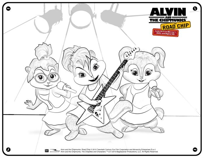 chipmunks chipettes coloring pages - photo#35