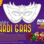 Alvin and The Chipmunks Mardi Gras Mask Craft