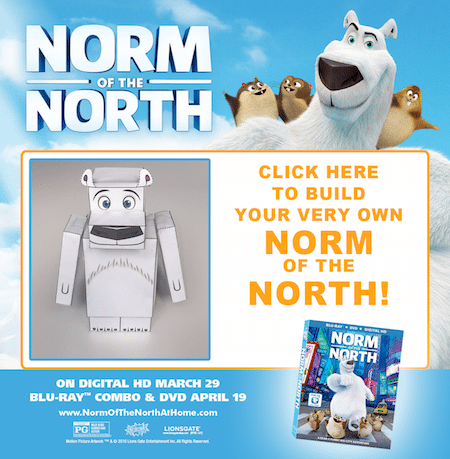 Norm of The North Free Printable Craft