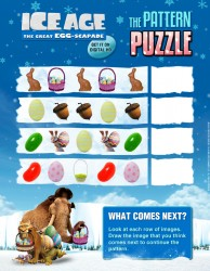 Free Ice Age Easter Puzzle Page