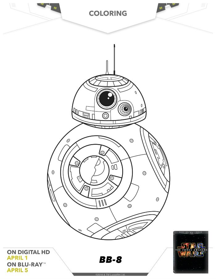 Star Wars BB-8 Coloring Page