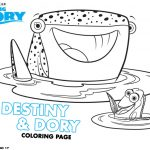 Disney Finding Dory Printable Destiny and Dory Coloring Page