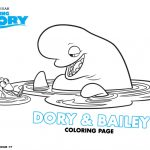Disney Finding Dory Printable Dory and Bailey Coloring Page