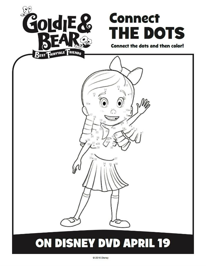 Disney Goldie & Bear Connect The Dots Coloring Page