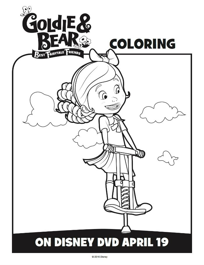 Disney Goldie Fairytale Friends Coloring Page