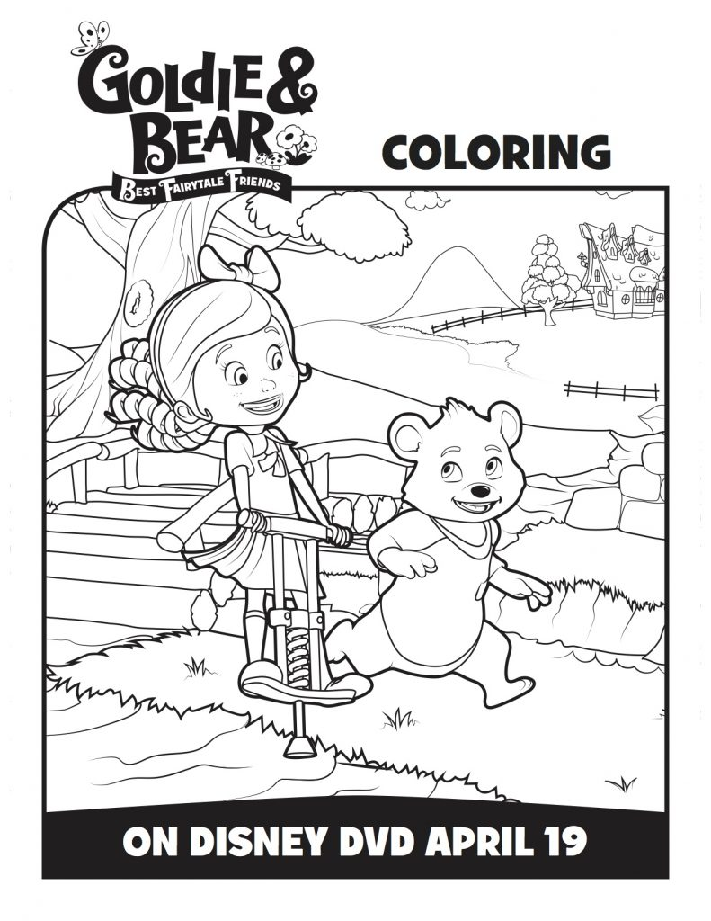 disney goldie u0026 bear best fairytale friends coloring page mama