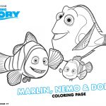 Disney Finding Dory Printable Marlin, Nemo and Dory Coloring Page