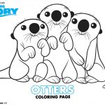 Disney Finding Dory Otters Coloring Page