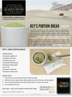 Star Wars Rey's Portion Bread Recipe