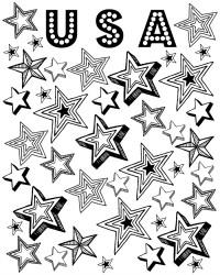 Free Printable Patriotic Stars Coloring Page
