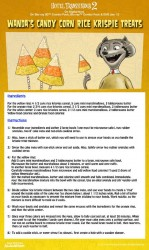 Hotel Transylvania Candy Corn Rice Krispie Treats Recipe