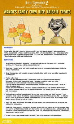 Hotel Transylvania Candy Corn Rice Krispie Treats Recipe