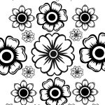 Free Printable May Flowers Adult Coloring Page