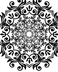 Free Artsy Flower Printable Adult Coloring Page