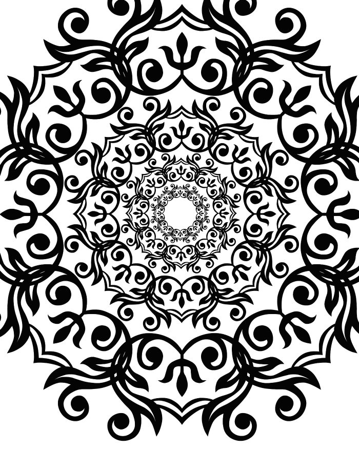 Free Artsy Flower Printable Adult Coloring Page Mama Artsy Coloring Pages