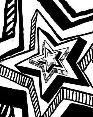 Big Star Adult Coloring Page