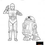 Star Wars C-3PO and R2-D2 Coloring Page