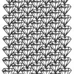 Free Printable Diamonds Adult Coloring Page